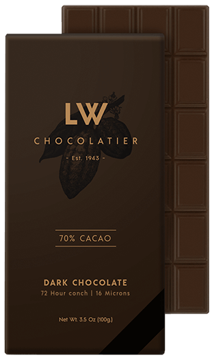 LW Chocolatier Dark Chocolate 70% Cacao Bar