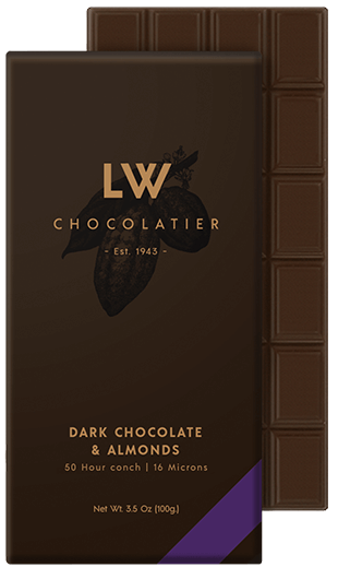 LW Chocolatier Dark Chocolate & Almonds Bar