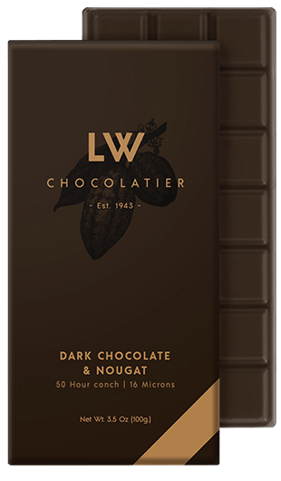 LW Chocolatier Dark Chocolate & Nougat Bar