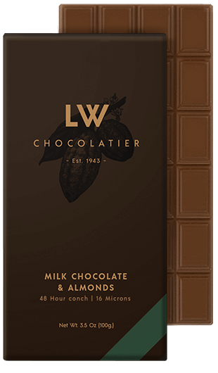 LW Chocolatier Milk Chocolate & Almonds Bar